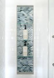 glass shelf for shower niche large shower niche with glass tiles and glass shelves blue glass