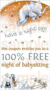 babysitting gift certificate template free babysitting coupons are great for the surrogate a night out is