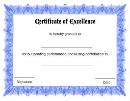 Certificate Of Excellence Template Free Blank Certificate Templates To Print Activity Shelter Blank 2