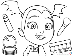 Vampirina Coloring Pages Makeup Free Printable Coloring Pages