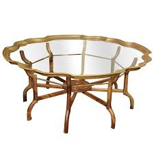 chic brass glass coffee table a clear choicevintage baker brass and glass coffee table