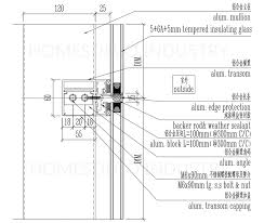 technical details of glass curtain wall frame