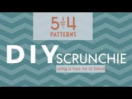 elastic easy diy scrunchie tutorial