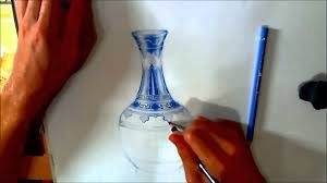 How To Draw A Vase With Designs How To Draw A Ming Vase Speed Drawing