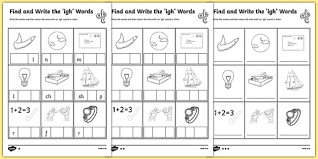 Children are introduced to an additional 25 graphemes. Find And Write The Igh Words Differentiated Worksheet Pack