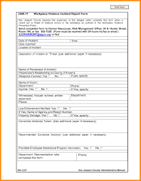 039 Employee Incident Report Template Ideas Sample Top Form