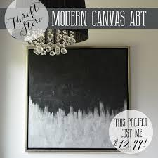 diverting diy silver black in make artwork from thrift canvas art diy mommy in diy