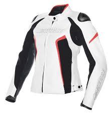dainese racing d1 veste de moto en cuir dames vêtements blousons blanc noir rouge