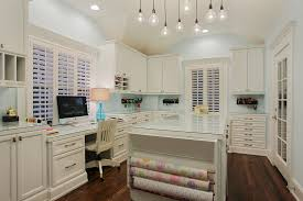 home office craft room. Elegant Wrapping Paper Organizer Vogue Houston Traditional Home Office Decorating Ideas With Computer Desk Craft Room Dark Wood Floor Feminine Glass Z