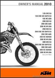 2010 ktm 125 150 200 250 300 xc xc w exc motorcycle owners manual 1994 ktm 300 exc manual at Ktm 300 Exc Wiring Diagram