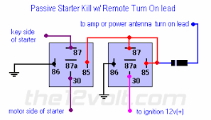 starter interrupt relay diagrams passive starter killpassive starter kill relay diagram any 12