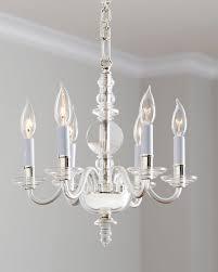 george ii mini 6 light polished nickel chandelier