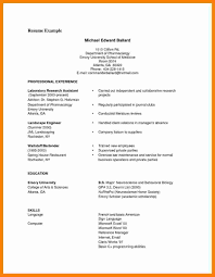 Sample Ofimple Resume Format Tjfs Journal Org Doc Cvamples Simple