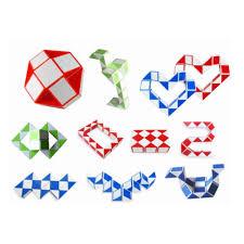 <b>24 pieces mini Magic</b> cube Snake Toy Blocks Ruler Magic Snake ...