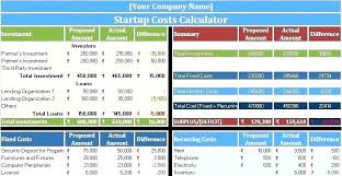 Break Even Excel Template New Business Plan Cost Analysis Template Hockeyposter