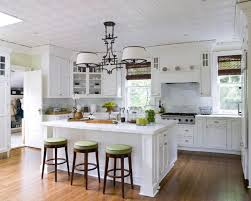 Small Picture Brilliant White Kitchen With Island And Black Features A For Decor