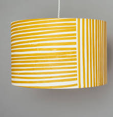 Mustard Yellow Stripes Lampshade