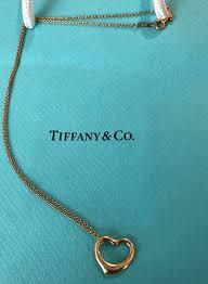 tiffany co elsa peretti open heart pendant