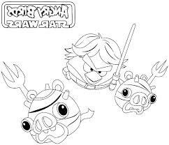 Star Wars Coloring Pages Online Feat Angry Birds Star Wars Coloring