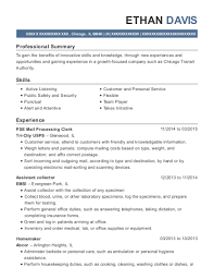 United States Postal Service Pse Mail Processing Clerk Resume Sample