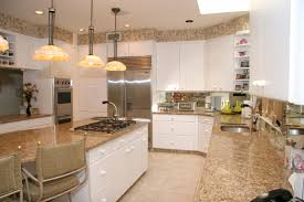 White Kitchen With Granite White Kitchen Cabinets With Beige Granite Quicuacom