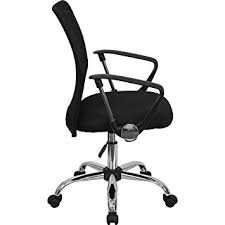 flash furniture mid back mesh office chair with chrome base. flash furniture mid-back black mesh swivel task chair with chrome base and arms mid back office :