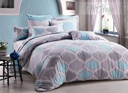 blue and grey bedding light blue