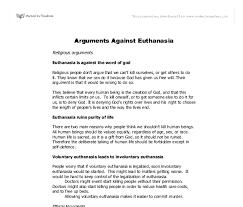 essay against euthanasia hoga hojder essay against euthanasia