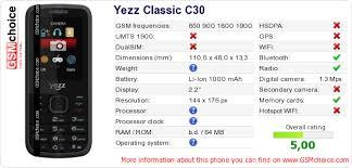 Yezz Classic C30 :: GSMchoice.com