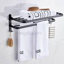 toilet double towel rail rack holder