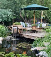 Garden Pond And Deck Ideas