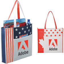 the usa national flag convention tote bags with custom pany logo imprinting personalized patriotic gifts