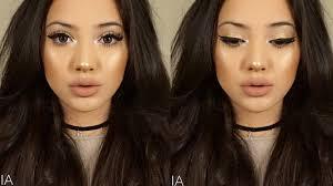 highlighted bronzed summer soft glam makeup tutorial