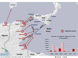 Frontex Lampedusa Situational Map Migrants At Sea