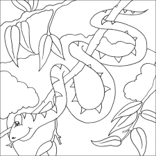 Small Picture Snake Coloring Picture