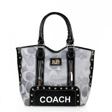 Coach Madison Signs Large Grey Totes FEK