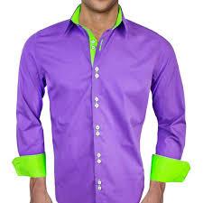 Neon Designer Dress Buy Purple With Neon Green Designer Dress Shirts Made In