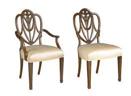 Mahogany Sweet Heart Shield Back Dining Chairs Shield Back Dining Room Chairs