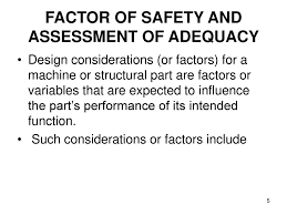 Factor Of Safety In Machine Design Department Of Mechanical And Manufacturing Engineering Ppt