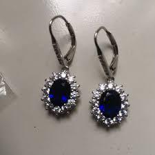 sapphire 18k white gold earrings vine style brand new in saint paul mn