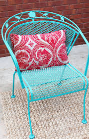 how to paint a wrought iron patio set with chalk paint by annie sloan