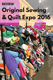 Recap: Field trip to the Original Sewing and Quilt Expo 2016 | Sie ... & Vogue Fabrics sells textiles at the Sewing and Quilt Expo in Schaumburg,  Illinois. Adamdwight.com