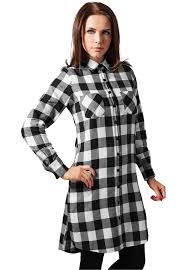<b>Рубашка</b>-платье <b>URBAN CLASSICS Ladies</b> Checked Flanell Shirt ...