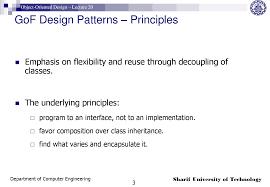Gof Design Patterns Gof Design Patterns Object Oriented Design Lecture 20 Slides