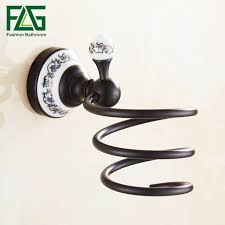 Online Shop <b>FLG Bathroom Shelf Wall</b> Mounted Hair Dryer Hair ...