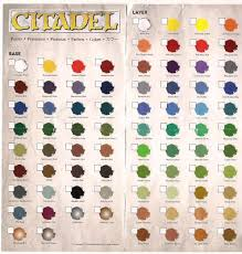 New Citadel Paint Charts Faeit 212 Warhammer 40k News