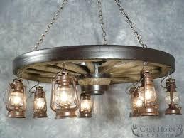 wagonwheel chandeliers