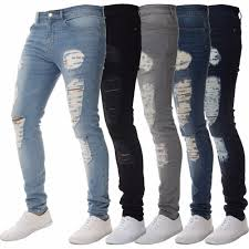Compare Designer Jeans Us 18 29 42 Off Dropshipping Skinny Jeans For Men Designer Distressed Stretch Brand Blue Biker Jeans Jogger Pants Ripped Slim Fit For Guys In Jeans