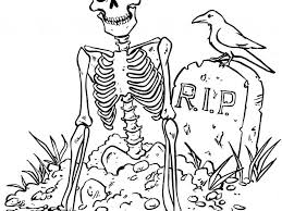 Download Halloween Skeleton Coloring Pages | Coloring Page For Kids