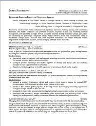 Financial Services Resume Financial Executive Resume Example